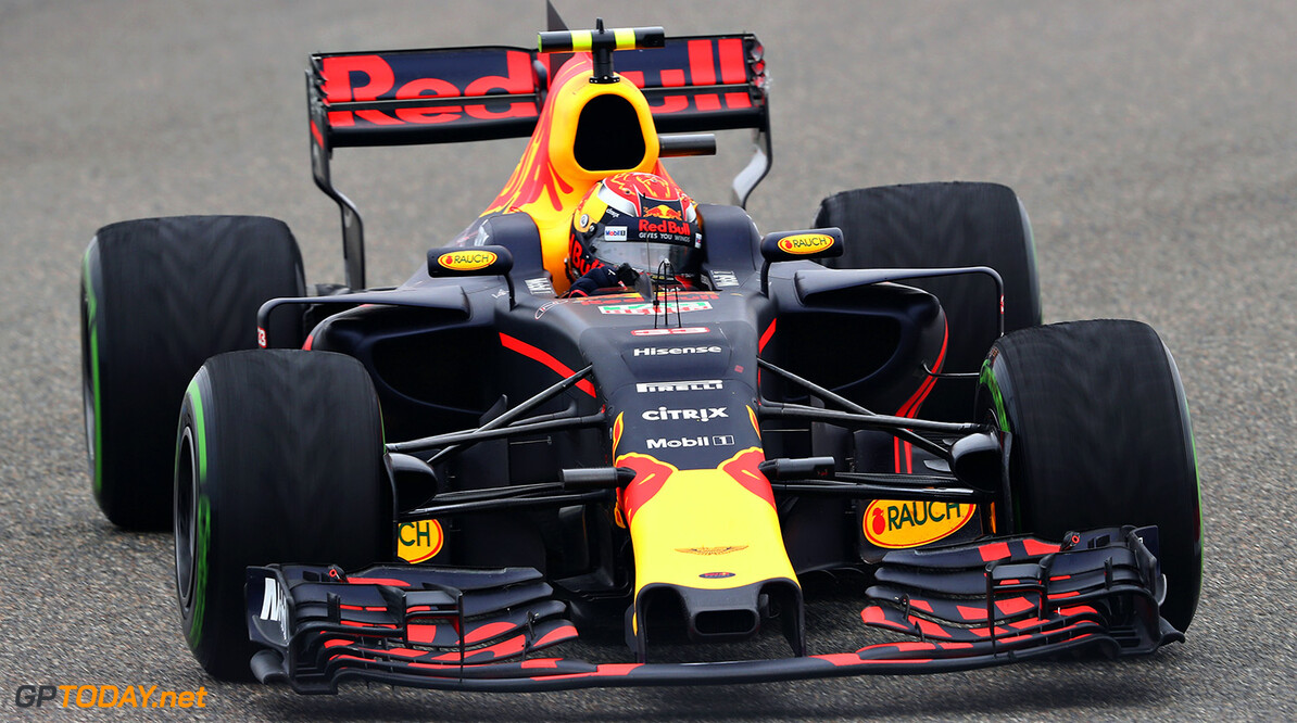 SHANGHAI, CHINA - APRIL 09: Max Verstappen of the Netherlands driving the (33) Red Bull Racing Red Bull-TAG Heuer RB13 TAG Heuer on track during the Formula One Grand Prix of China at Shanghai International Circuit on April 9, 2017 in Shanghai, China.  (Photo by Mark Thompson/Getty Images) // Getty Images / Red Bull Content Pool  // P-20170409-00561 // Usage for editorial use only // Please go to www.redbullcontentpool.com for further information. //  F1 Grand Prix of China Mark Thompson  China  P-20170409-00561