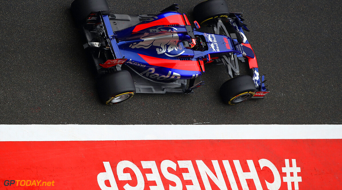 SHANGHAI, CHINA - APRIL 09: Daniil Kvyat of Russia driving the (26) Scuderia Toro Rosso STR12 in the Pitlane  during the Formula One Grand Prix of China at Shanghai International Circuit on April 9, 2017 in Shanghai, China.  (Photo by Clive Mason/Getty Images) // Getty Images / Red Bull Content Pool  // P-20170409-00334 // Usage for editorial use only // Please go to www.redbullcontentpool.com for further information. //  F1 Grand Prix of China Clive Mason  China  P-20170409-00334