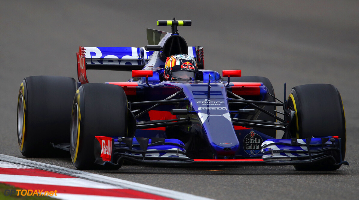 SHANGHAI, CHINA - APRIL 09: Carlos Sainz of Spain driving the (55) Scuderia Toro Rosso STR12 on track during the Formula One Grand Prix of China at Shanghai International Circuit on April 9, 2017 in Shanghai, China.  (Photo by Clive Mason/Getty Images) // Getty Images / Red Bull Content Pool  // P-20170409-00663 // Usage for editorial use only // Please go to www.redbullcontentpool.com for further information. //  F1 Grand Prix of China Clive Mason  China  P-20170409-00663