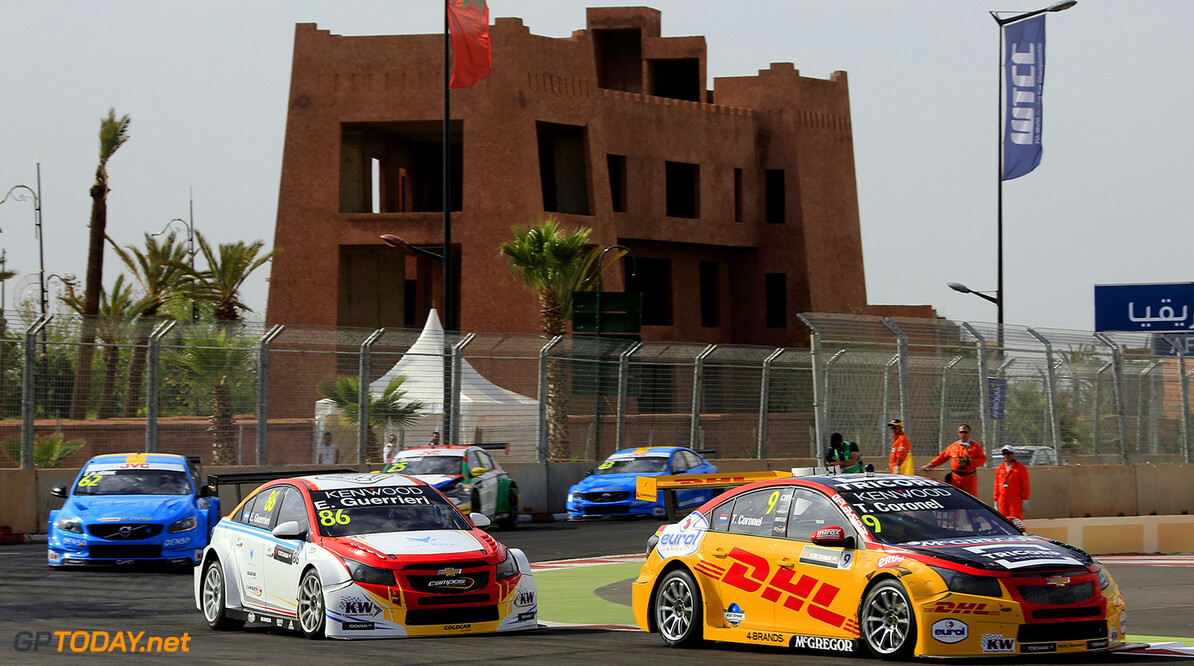 MOTORSPORT :  FIA WTCC World Touring Car, Marrakech, Morocco 201 Start race 1 09 CORONEL Tom (ned) Chevrolet RML Cruze team ROAL Motorsport action during the 2017 FIA WTCC World Touring Car Race of Morocco at Marrakech, from April 7 to 9 - Photo Paulo Maria / DPPI AUTO - WTCC MARRAKECH 2017 Paulo Maria Marrakech Maroc  april auto avril championnat du monde circuit course fia maroc motorsport tourisme wtcc