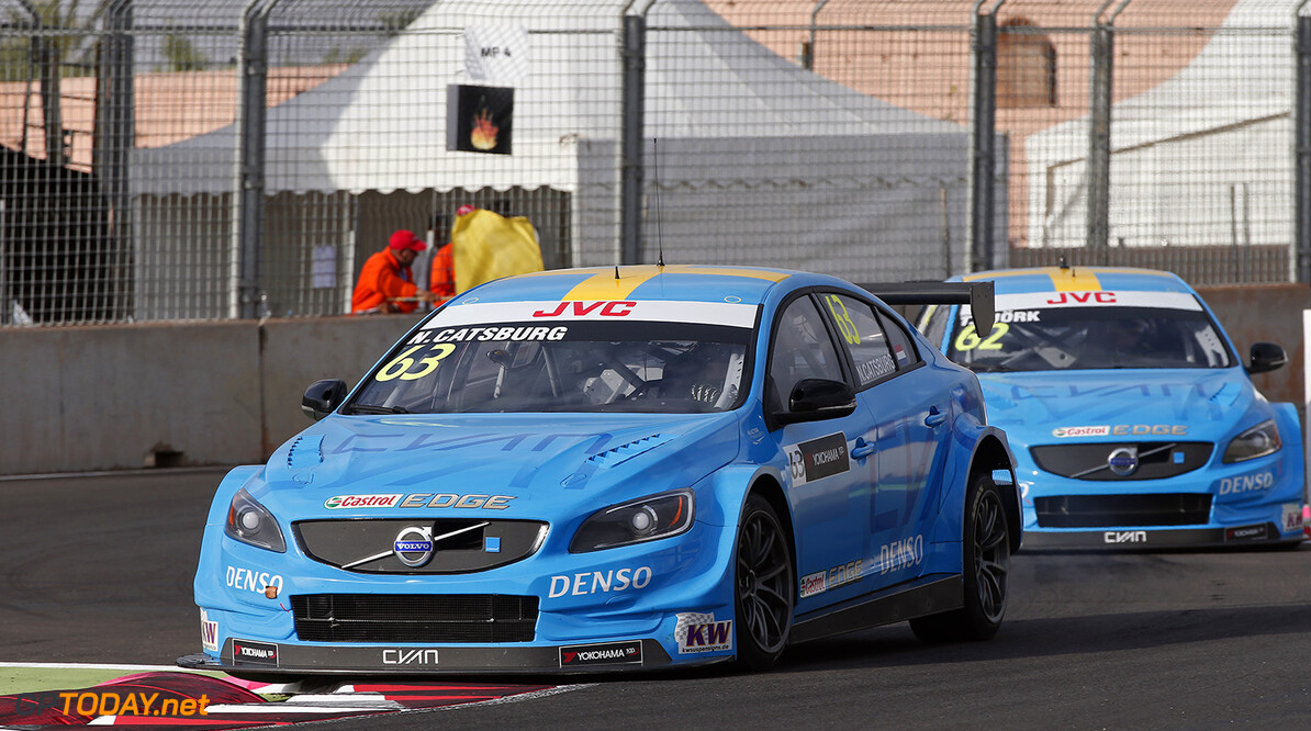 63 CATSBURG Nicky (ned) Volvo S60 Polestar team Polestar Cyan Racing action during the 2017 FIA WTCC World Touring Car Race of Morocco at Marrakech, from April 7 to 9 - Photo Jean Michel Le Meur / DPPI. AUTO - WTCC MARRAKECH 2017 Jean Michel Le Meur Marrakech Maroc  april auto avril championnat du monde circuit course fia maroc motorsport tourisme wtcc