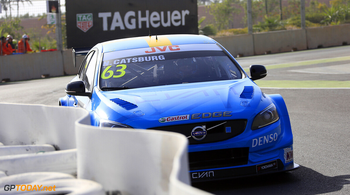 MOTORSPORT :  FIA WTCC World Touring Car, Marrakech, Morocco 201 63 CATSBURG Nicky (ned) Volvo S60 Polestar team Polestar Cyan Racing action during the 2017 FIA WTCC World Touring Car Race of Morocco at Marrakech, from April 7 to 9 - Photo Paulo Maria / DPPI AUTO - WTCC MARRAKECH 2017 Paulo Maria Marrakech Maroc  april auto avril championnat du monde circuit course fia maroc motorsport tourisme wtcc
