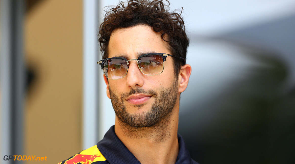 BAHRAIN, BAHRAIN - APRIL 13:  Daniel Ricciardo of Australia and Red Bull Racing in the Paddock during previews to the Bahrain Formula One Grand Prix at Bahrain International Circuit on April 13, 2017 in Bahrain, Bahrain.  (Photo by Clive Mason/Getty Images) // Getty Images / Red Bull Content Pool  // P-20170413-00616 // Usage for editorial use only // Please go to www.redbullcontentpool.com for further information. //  F1 Grand Prix of Bahrain - Previews Clive Mason  Bahrain  P-20170413-00616