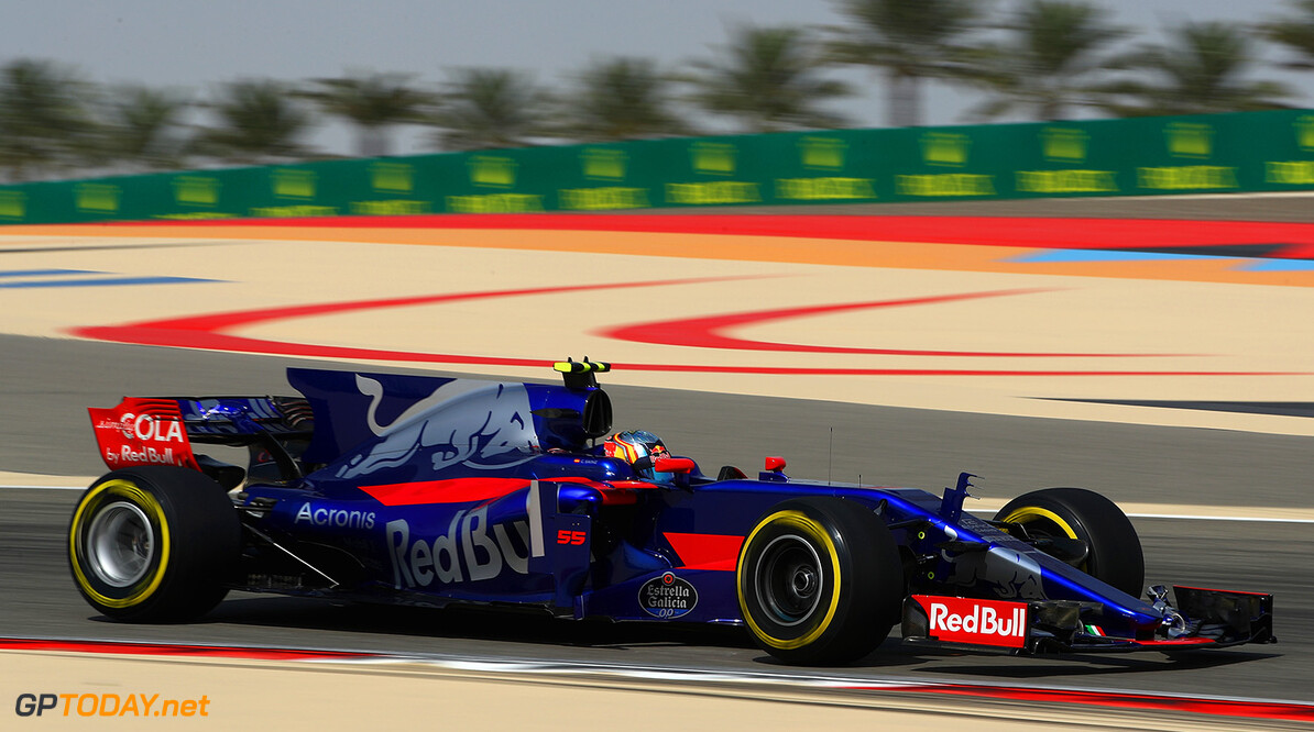 BAHRAIN, BAHRAIN - APRIL 14: Carlos Sainz of Spain driving the (55) Scuderia Toro Rosso STR12 on track during practice for the Bahrain Formula One Grand Prix at Bahrain International Circuit on April 14, 2017 in Bahrain, Bahrain.  (Photo by Clive Mason/Getty Images) // Getty Images / Red Bull Content Pool  // P-20170414-01231 // Usage for editorial use only // Please go to www.redbullcontentpool.com for further information. //  F1 Grand Prix of Bahrain - Practice Clive Mason  Bahrain  P-20170414-01231