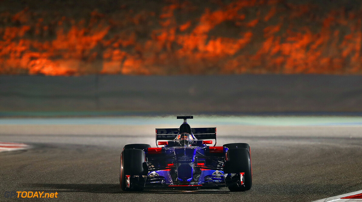 BAHRAIN, BAHRAIN - APRIL 14: Daniil Kvyat of Russia driving the (26) Scuderia Toro Rosso STR12 on track during practice for the Bahrain Formula One Grand Prix at Bahrain International Circuit on April 14, 2017 in Bahrain, Bahrain.  (Photo by Clive Mason/Getty Images) // Getty Images / Red Bull Content Pool  // P-20170414-01207 // Usage for editorial use only // Please go to www.redbullcontentpool.com for further information. //  F1 Grand Prix of Bahrain - Practice Clive Mason  Bahrain  P-20170414-01207