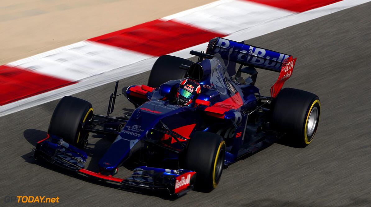 BAHRAIN, BAHRAIN - APRIL 14: Daniil Kvyat of Russia driving the (26) Scuderia Toro Rosso STR12 on track during practice for the Bahrain Formula One Grand Prix at Bahrain International Circuit on April 14, 2017 in Bahrain, Bahrain.  (Photo by Lars Baron/Getty Images) // Getty Images / Red Bull Content Pool  // P-20170414-00778 // Usage for editorial use only // Please go to www.redbullcontentpool.com for further information. //  F1 Grand Prix of Bahrain - Practice Lars Baron  Bahrain  P-20170414-00778