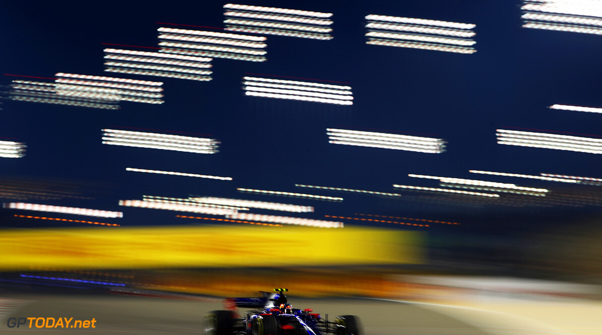 BAHRAIN, BAHRAIN - APRIL 14: Carlos Sainz of Spain driving the (55) Scuderia Toro Rosso STR12 on track during practice for the Bahrain Formula One Grand Prix at Bahrain International Circuit on April 14, 2017 in Bahrain, Bahrain.  (Photo by Clive Mason/Getty Images) // Getty Images / Red Bull Content Pool  // P-20170414-00982 // Usage for editorial use only // Please go to www.redbullcontentpool.com for further information. //  F1 Grand Prix of Bahrain - Practice Clive Mason  Bahrain  P-20170414-00982