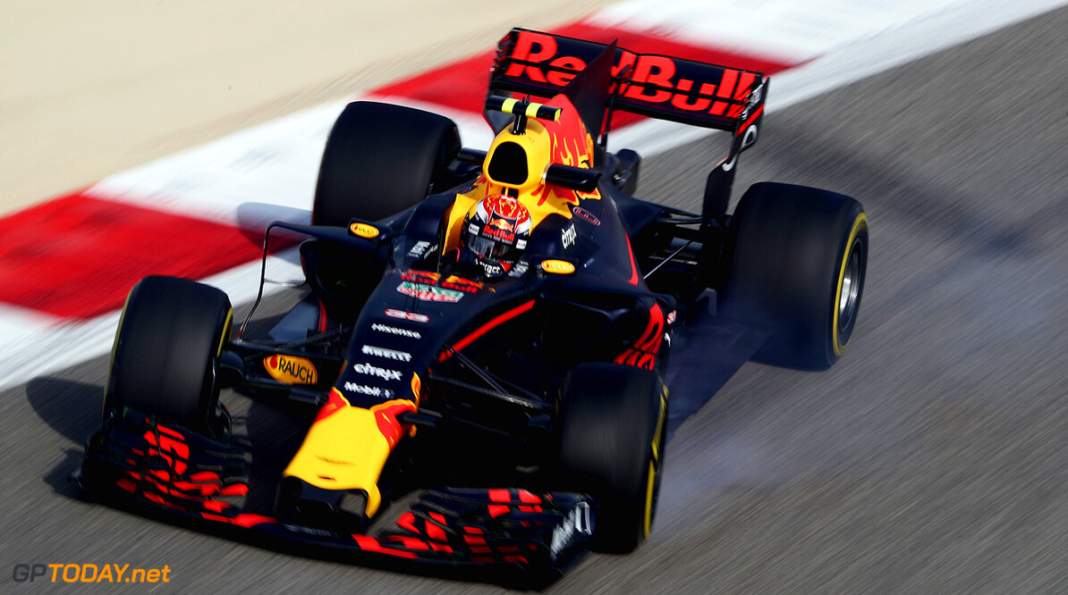 BAHRAIN, BAHRAIN - APRIL 14: Max Verstappen of the Netherlands driving the (33) Red Bull Racing Red Bull-TAG Heuer RB13 TAG Heuer on track during practice for the Bahrain Formula One Grand Prix at Bahrain International Circuit on April 14, 2017 in Bahrain, Bahrain.  (Photo by Lars Baron/Getty Images) // Getty Images / Red Bull Content Pool  // P-20170414-00766 // Usage for editorial use only // Please go to www.redbullcontentpool.com for further information. //  F1 Grand Prix of Bahrain - Practice Lars Baron  Bahrain  P-20170414-00766