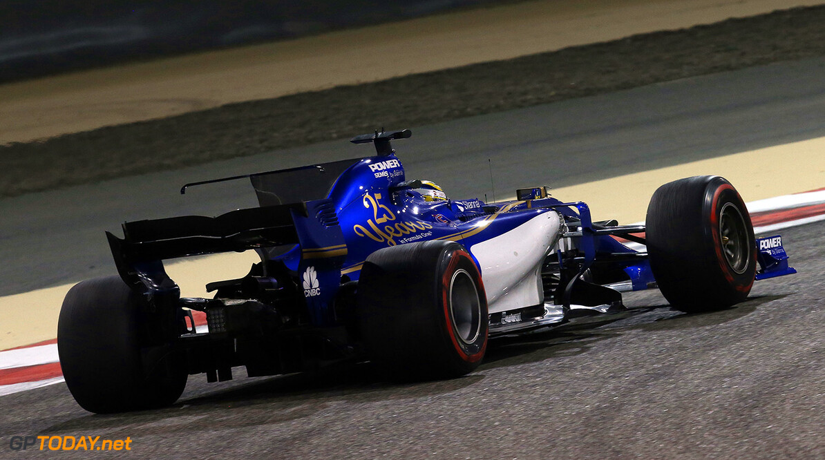 Bahrain GP Friday 14/04/17 Marcus Ericsson (SWE), Sauber F1 Team. Bahrain International Circuit.  Bahrain GP Friday 14/04/17 Jean-Francois Galeron Sakhir Bahrain  F1 Formula One 2017 Action Ericsson Sauber