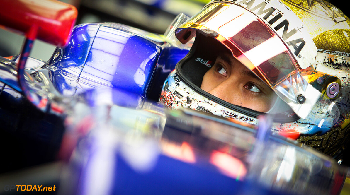 BAHRAIN, BAHRAIN - APRIL 18:  Sean Gelael of Indonesia and Scuderia Toro Rosso prepares to drive during day one of Formula One in-season testing at Bahrain International Circuit on April 18, 2017 in Bahrain, Bahrain.  (Photo by Getty Images/Getty Images) // Getty Images / Red Bull Content Pool  // P-20170418-00264 // Usage for editorial use only // Please go to www.redbullcontentpool.com for further information. //  F1 In-Season Testing In Bahrain - Day One   Bahrain  P-20170418-00264