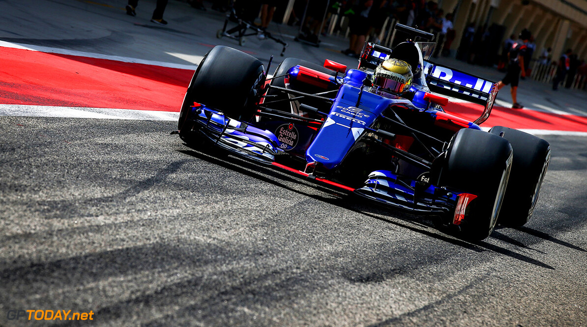 BAHRAIN, BAHRAIN - APRIL 18: Sean Gelael of Indonesia driving the Scuderia Toro Rosso STR12 in the Pitlane during day one of Formula One in-season testing at Bahrain International Circuit on April 18, 2017 in Bahrain, Bahrain.  (Photo by Getty Images/Getty Images) // Getty Images / Red Bull Content Pool  // P-20170418-00267 // Usage for editorial use only // Please go to www.redbullcontentpool.com for further information. //  F1 In-Season Testing In Bahrain - Day One   Bahrain  P-20170418-00267