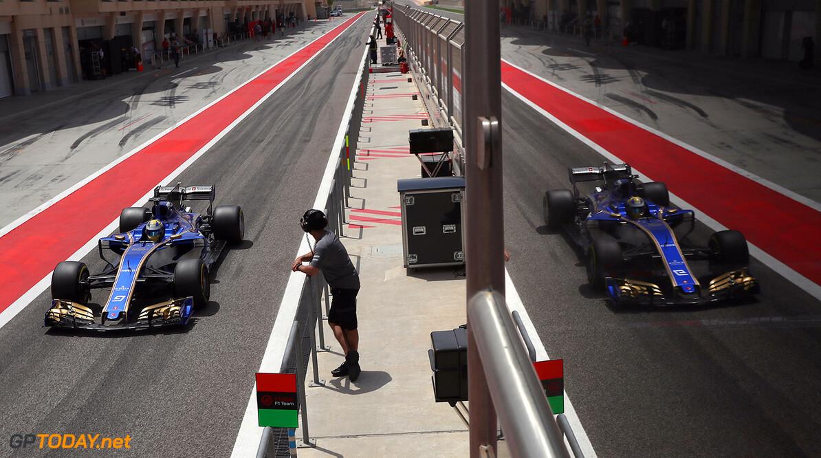 Bahrain F1 test 18-19/04/17 Marcus Ericsson (SWE), Sauber F1 Team.  Bahrain International Circuit.  Bahrain F1 test 18-19/04/17 Jad Sherif                Sakhir Bahrain  F1 Formula One testing pits Ericsson Sauber