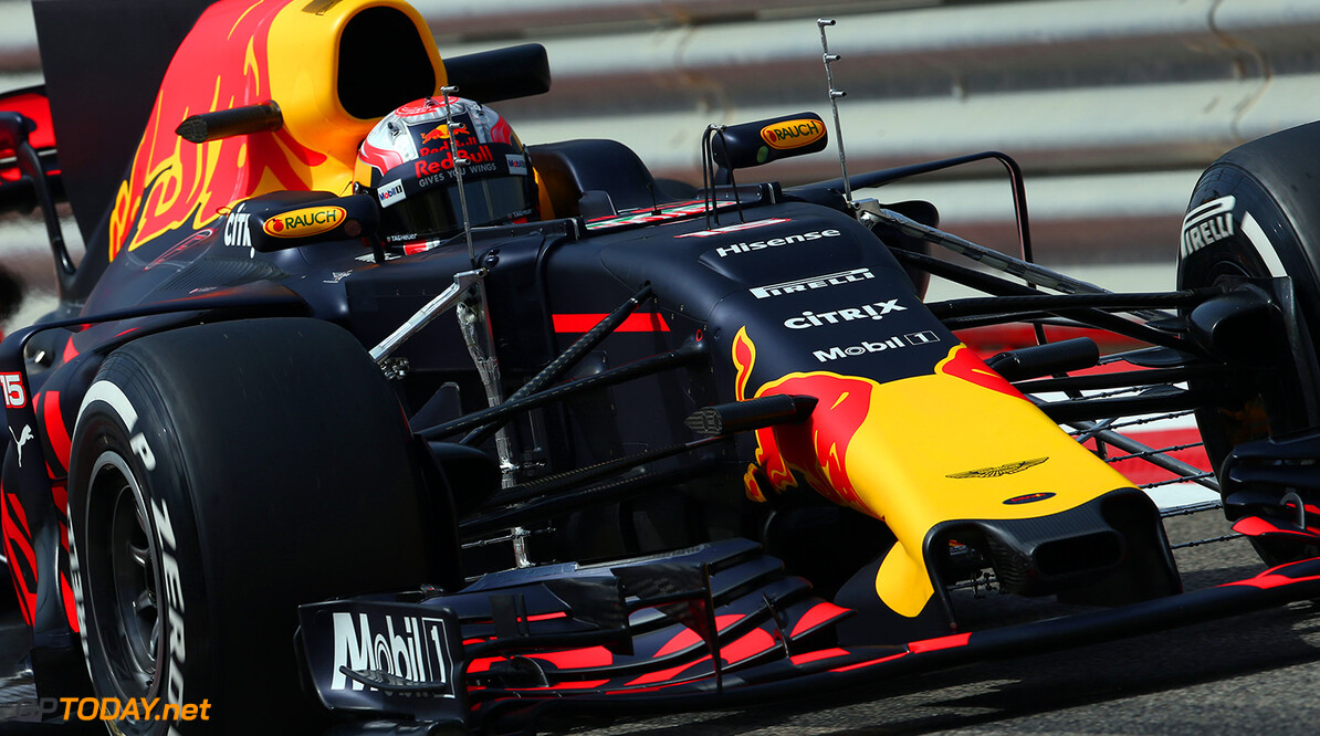 BAHRAIN, BAHRAIN - APRIL 19:  Pierre Gasly of France and Red Bull Racing drives in the Red Bull RB13 TAG Heuer during day two of Formula One in-season testing at Bahrain International Circuit on April 19, 2017 in Bahrain, Bahrain.  (Photo by Getty Images/Getty Images) // Getty Images / Red Bull Content Pool  // P-20170419-00821 // Usage for editorial use only // Please go to www.redbullcontentpool.com for further information. //  F1 In-Season Testing In Bahrain - Day Two   Bahrain  P-20170419-00821