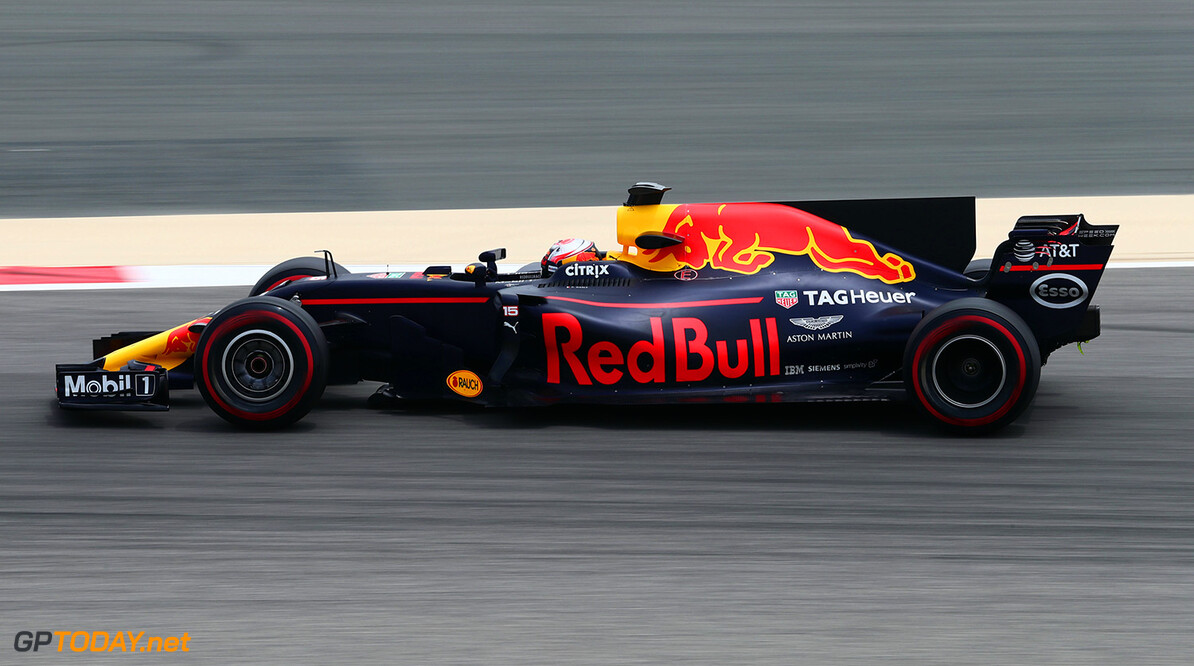 BAHRAIN, BAHRAIN - APRIL 19:  Pierre Gasly of France and Red Bull Racing drives in the Red Bull RB13 TAG Heuer during day two of Formula One in-season testing at Bahrain International Circuit on April 19, 2017 in Bahrain, Bahrain.  (Photo by Getty Images/Getty Images) // Getty Images / Red Bull Content Pool  // P-20170419-00833 // Usage for editorial use only // Please go to www.redbullcontentpool.com for further information. //  F1 In-Season Testing In Bahrain - Day Two   Bahrain  P-20170419-00833