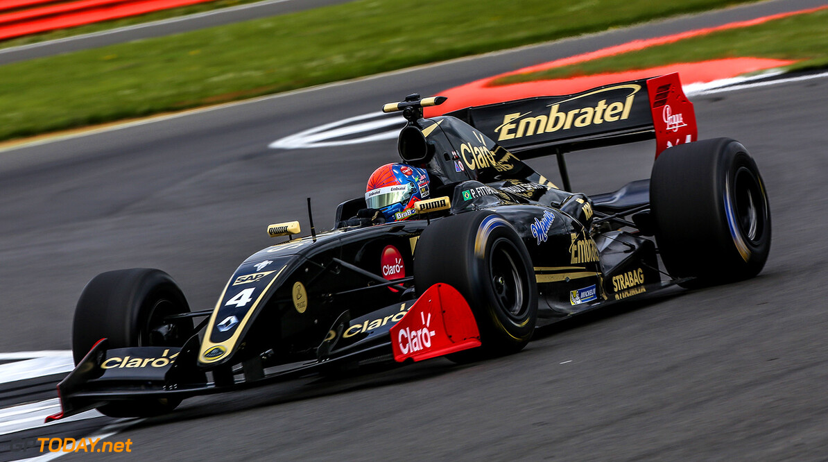 SILVERSTONE (GBR) APR 13-16 2017 - First round of the Worldseries Formula V8 3.5 at Silverstone Circuit. Pietro Fittipaldi #4 Lotus. Action. (C) 2017 Klaas Norg  / Dutch Photo Agency SILVERSTONE RACING FORMULA V8 Klaas Norg    Auto Autosport Car Formula Michelin Motorsports Race Racing Renault Silverstone Track UK World Series
