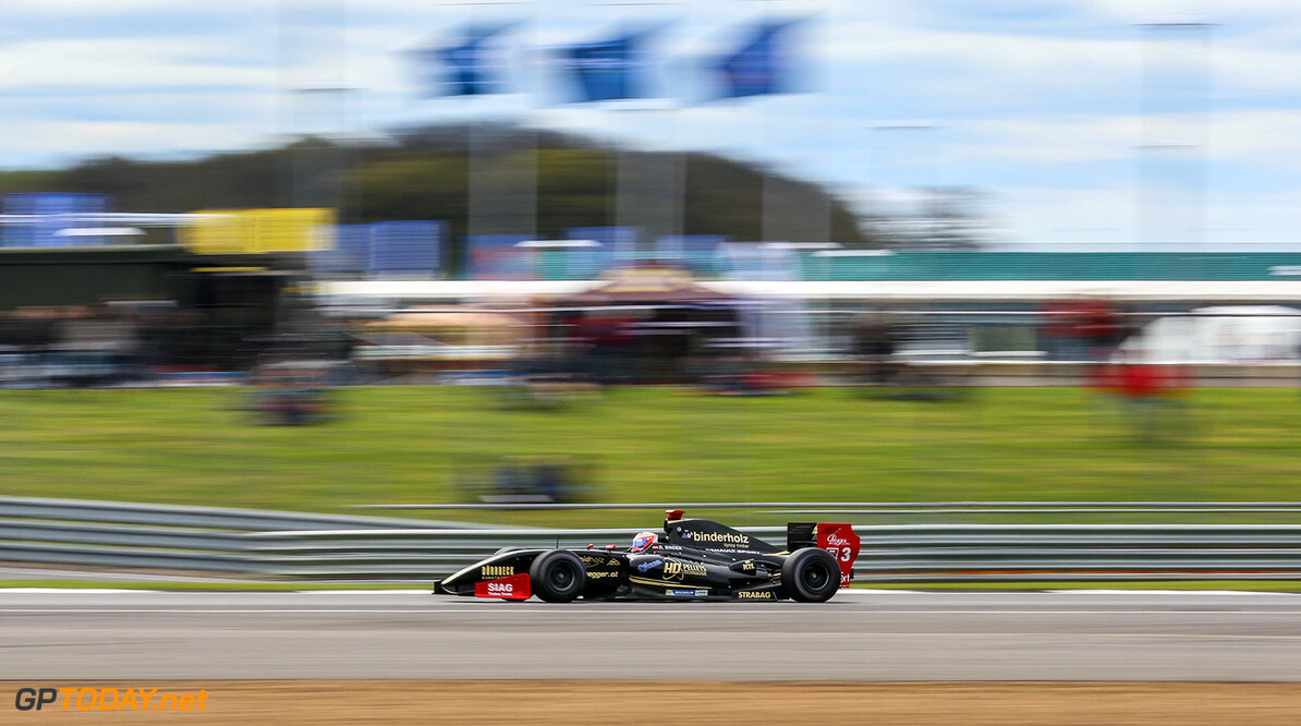 SILVERSTONE (GBR) APR 13-16 2017 - First round of the Worldseries Formula V8 3.5 at Silverstone Circuit. Rene Binder #3 Lotus. Action. (C) 2017 Klaas Norg  / Dutch Photo Agency SILVERSTONE RACING FORMULA V8     Auto Autosport Car Formula Michelin Motorsports Race Racing Renault Silverstone Track UK World Series