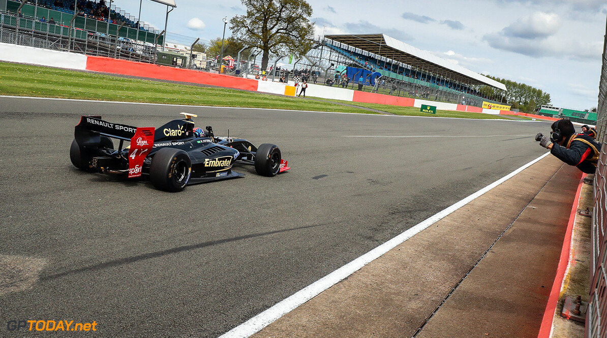 SILVERSTONE-RACING-FORMULA V8 SILVERSTONE (GBR) APR 13-16 2017 - First round of the World Series Formula V8 3.5 at Silverstone Circuit. Pietro Fittipaldi #4 Lotus. Action. (C) 2017 Diederik van der Laan  / Dutch Photo Agency  Diederik van der Laan Silverstone England  Auto Autosport Car England Formula Michelin Motorsports Race Racing Renault Silverstone Track UK V8 World Series