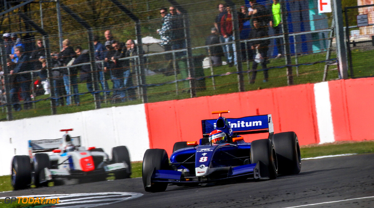 SILVERSTONE (GBR) APR 13-16 2017 - First round of the Worldseries Formula V8 3.5 at Silverstone Circuit. Diego Menchaca #8 Fortec Motorsports. Action. (C) 2017 Klaas Norg  / Dutch Photo Agency SILVERSTONE RACING FORMULA V8     Auto Autosport Car Formula Michelin Motorsports Race Racing Renault Silverstone Track UK World Series