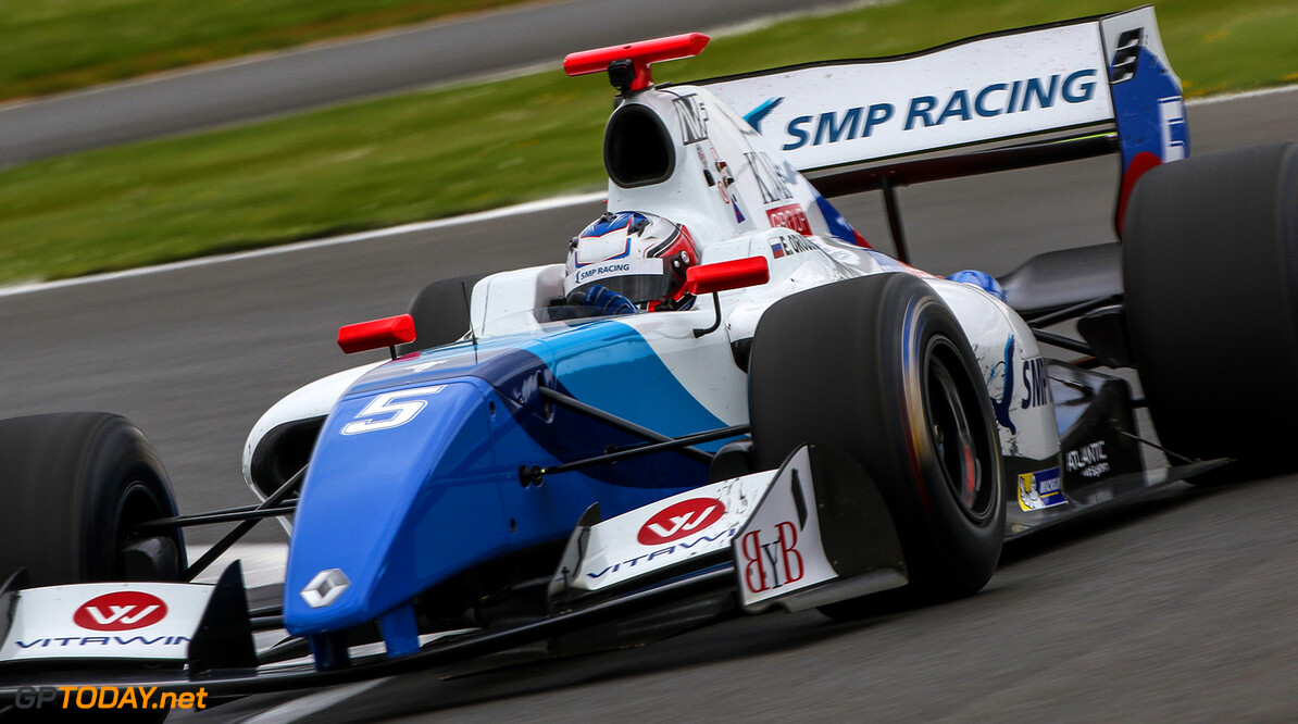 SILVERSTONE (GBR) APR 13-16 2017 - First round of the Worldseries Formula V8 3.5 at Silverstone Circuit. Egor Orudzhev #05 SMP Racing by AVF. Action. (C) 2017 Klaas Norg  / Dutch Photo Agency SILVERSTONE RACING FORMULA V8 Klaas Norg    Auto Autosport Car Formula Michelin Motorsports Race Racing Renault Silverstone Track UK World Series