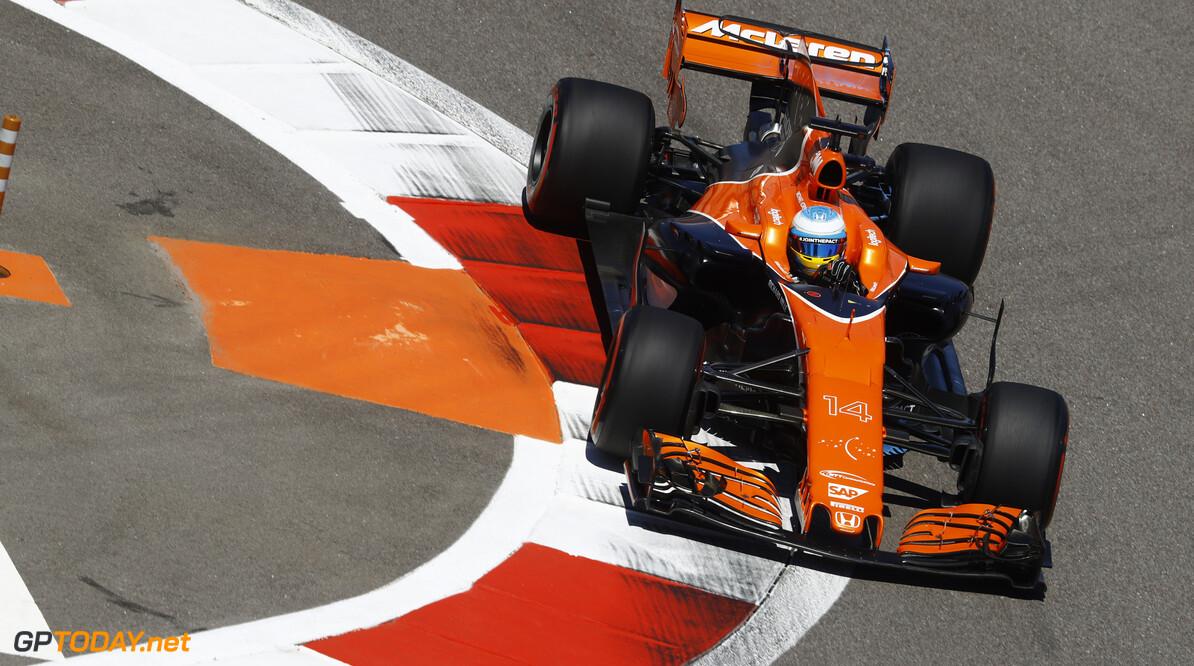 Sochi Autodrom, Sochi, Russia.  Friday 28 April 2017. Fernando Alonso, McLaren MCL32 Honda. Photo: Steven Tee/McLaren ref: Digital Image _O3I8448  Steven Tee    f1 formula 1 formula one gp grand prix Action