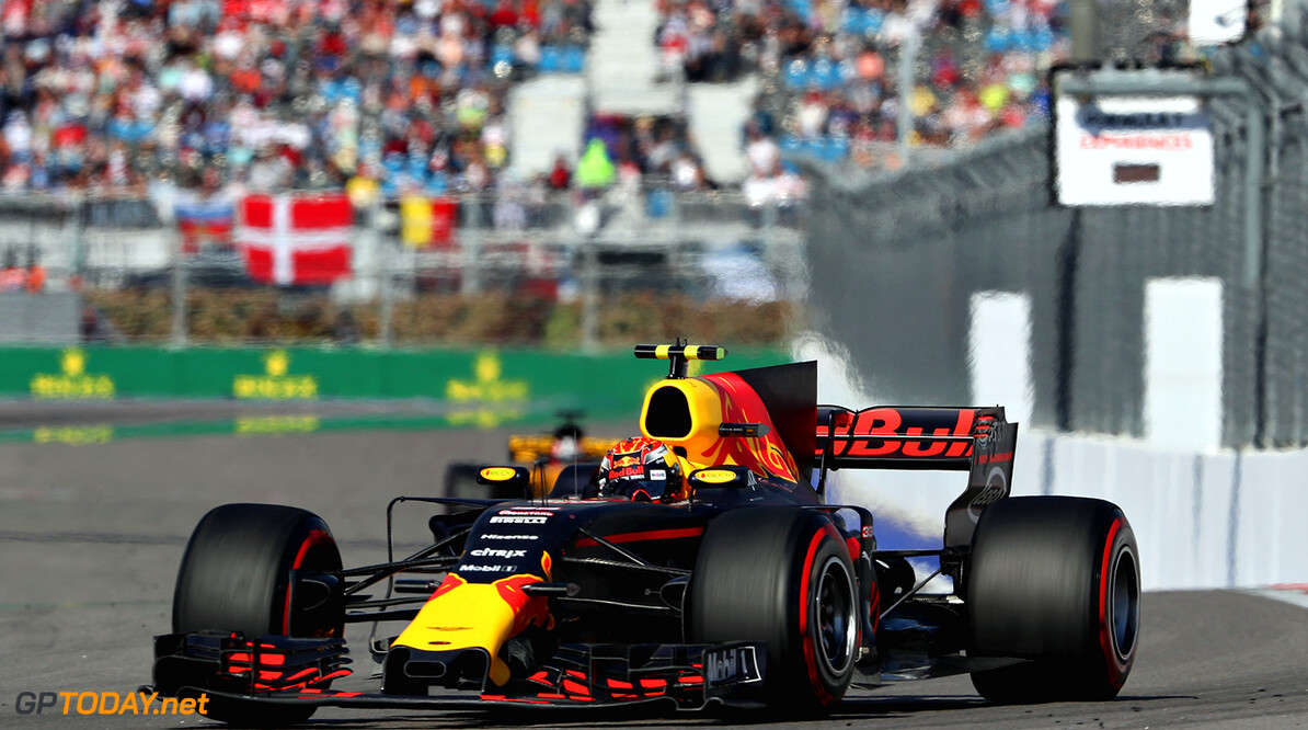 SOCHI, RUSSIA - APRIL 30:  Max Verstappen of the Netherlands driving the (33) Red Bull Racing Red Bull-TAG Heuer RB13 TAG Heuer on track during the Formula One Grand Prix of Russia on April 30, 2017 in Sochi, Russia.  (Photo by Mark Thompson/Getty Images) // Getty Images / Red Bull Content Pool  // P-20170430-00851 // Usage for editorial use only // Please go to www.redbullcontentpool.com for further information. //  F1 Grand Prix of Russia Mark Thompson Sochi Russian Federation  P-20170430-00851