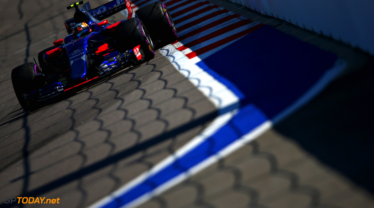 SOCHI, RUSSIA - APRIL 30: Carlos Sainz of Spain driving the (55) Scuderia Toro Rosso STR12 on track during the Formula One Grand Prix of Russia on April 30, 2017 in Sochi, Russia.  (Photo by Dan Istitene/Getty Images) // Getty Images / Red Bull Content Pool  // P-20170430-01218 // Usage for editorial use only // Please go to www.redbullcontentpool.com for further information. //  F1 Grand Prix of Russia Dan Istitene Sochi Russian Federation  P-20170430-01218