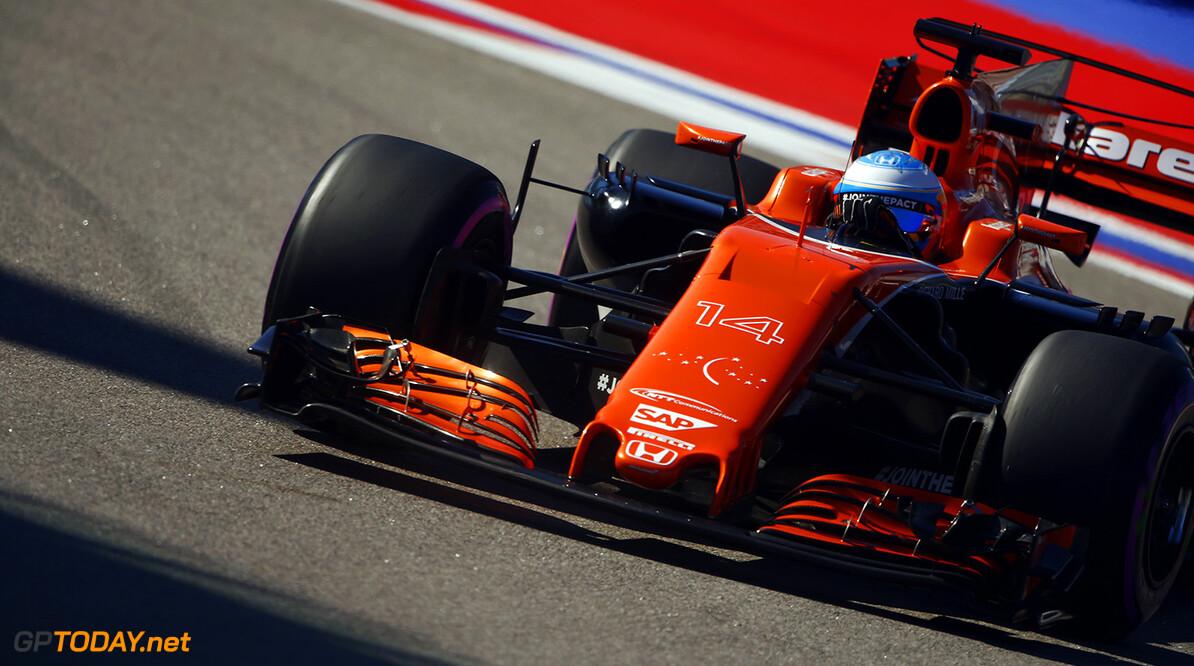 Sochi Autodrom, Sochi, Russia.  Saturday 29 April 2017. Fernando Alonso, McLaren MCL32 Honda.  Photo: Andrew Hone/McLaren ref: Digital Image _ONY0263      f1 formula 1 formula one gp grand prix Action