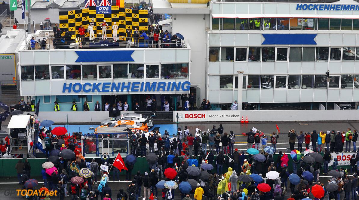 Motorsports: DTM race Hockenheim Motorsports: DTM race Hockenheim, # 2 Gary Paffett (GBR, HWA AG, Mercedes-AMG C63 DTM) # 53 Jamie Green (GBR, Audi Sport Team Rosberg, Audi RS5 DTM) # 11 Marco Wittmann (GER, BMW Team RM, BMW M4 DTM)  Motorsports: DTM Test Hockenheim JT Hockenheim Germany  Motorsport DTM Podium Siegerehrung Siegerpodest VersandPartnerStandard