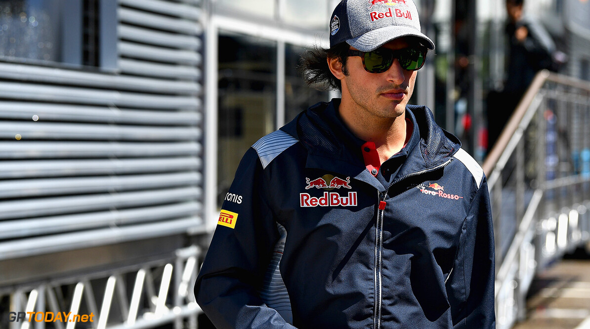 MONTMELO, SPAIN - MAY 11: Carlos Sainz of Spain and Scuderia Toro Rosso walks in the Paddock during previews for the Spanish Formula One Grand Prix at Circuit de Catalunya on May 11, 2017 in Montmelo, Spain.  (Photo by David Ramos/Getty Images) // Getty Images / Red Bull Content Pool  // P-20170511-00430 // Usage for editorial use only // Please go to www.redbullcontentpool.com for further information. //  Spanish F1 Grand Prix - Previews David Ramos  Spain  P-20170511-00430