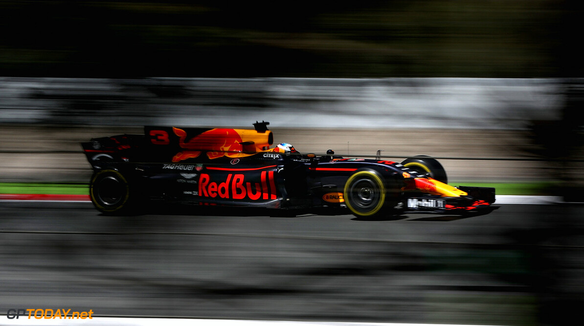MONTMELO, SPAIN - MAY 12:  Daniel Ricciardo of Australia driving the (3) Red Bull Racing Red Bull-TAG Heuer RB13 TAG Heuer on track during practice for the Spanish Formula One Grand Prix at Circuit de Catalunya on May 12, 2017 in Montmelo, Spain.  (Photo by Mark Thompson/Getty Images) // Getty Images / Red Bull Content Pool  // P-20170512-01393 // Usage for editorial use only // Please go to www.redbullcontentpool.com for further information. //  Spanish F1 Grand Prix - Practice Mark Thompson  Spain  P-20170512-01393