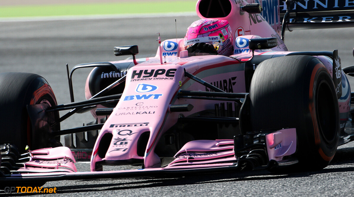 Formula One World Championship Esteban Ocon (FRA) Sahara Force India F1 VJM10. Spanish Grand Prix, Friday 12th May 2017. Barcelona, Spain. Motor Racing - Formula One World Championship - Spanish Grand Prix - Practice Day - Barcelona, Spain James Moy Photography Barcelona Spain  Formula One Formula 1 F1 GP Grand Prix Spanish Spain Barcelona Catalunya Circuit de Catalunya Montmelo JM704 Action Track GP1705b GP1705b_M