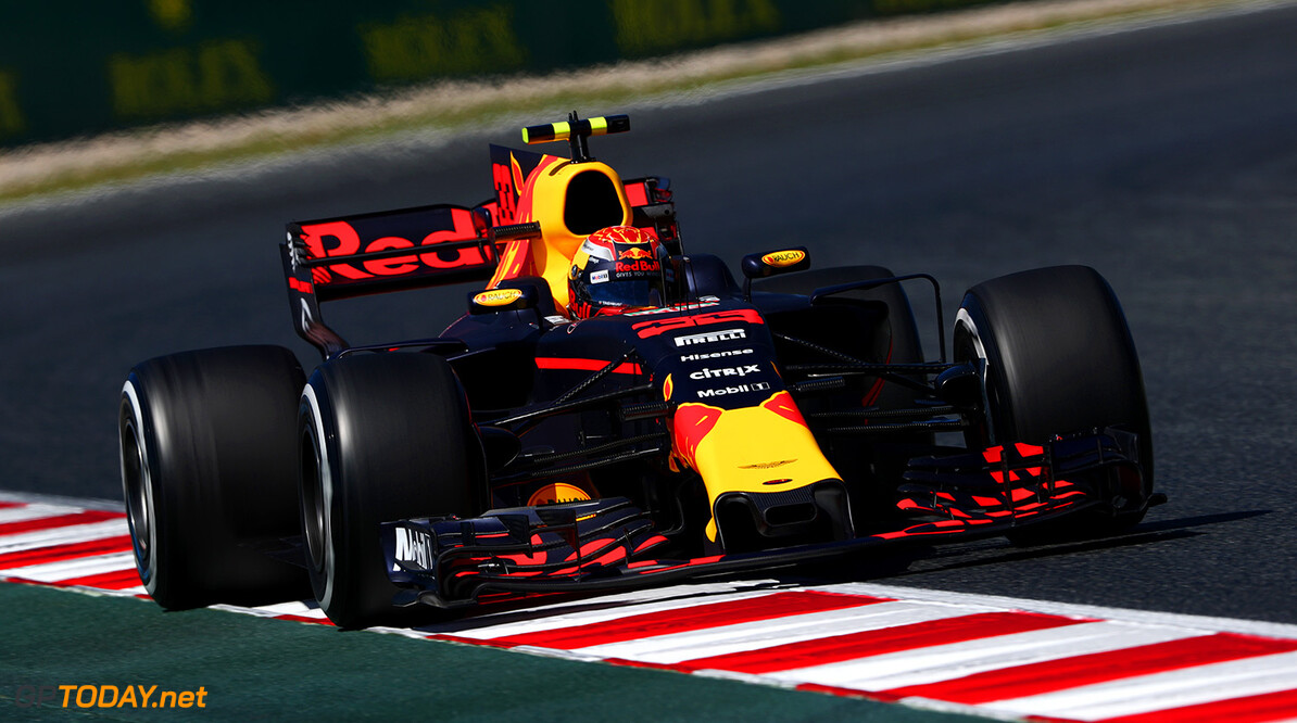 MONTMELO, SPAIN - MAY 12: Max Verstappen of the Netherlands driving the (33) Red Bull Racing Red Bull-TAG Heuer RB13 TAG Heuer on track during practice for the Spanish Formula One Grand Prix at Circuit de Catalunya on May 12, 2017 in Montmelo, Spain.  (Photo by Dan Istitene/Getty Images) // Getty Images / Red Bull Content Pool  // P-20170512-00820 // Usage for editorial use only // Please go to www.redbullcontentpool.com for further information. //  Spanish F1 Grand Prix - Practice Dan Istitene  Spain  P-20170512-00820