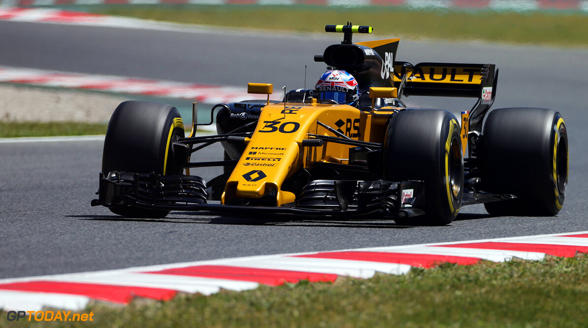 Formula One World Championship Jolyon Palmer (GBR) Renault Sport F1 Team RS17. Spanish Grand Prix, Friday 12th May 2017. Barcelona, Spain. Motor Racing - Formula One World Championship - Spanish Grand Prix - Practice Day - Barcelona, Spain Renault Sport Formula One Team Barcelona Spain  Formula One Formula 1 F1 GP Grand Prix Spanish Spain Barcelona Catalunya Circuit de Catalunya Montmelo JM704 Action Track GP1705b