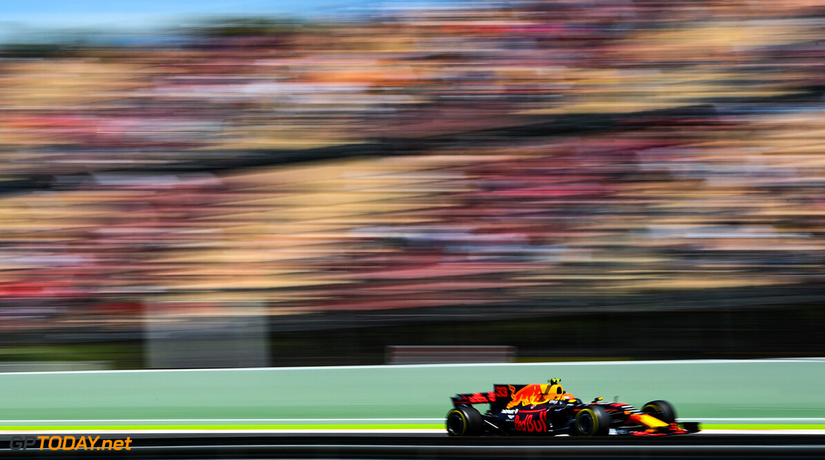 MONTMELO, SPAIN - MAY 12: Max Verstappen of the Netherlands driving the (33) Red Bull Racing Red Bull-TAG Heuer RB13 TAG Heuer on track during practice for the Spanish Formula One Grand Prix at Circuit de Catalunya on May 12, 2017 in Montmelo, Spain.  (Photo by David Ramos/Getty Images) // Getty Images / Red Bull Content Pool  // P-20170512-01640 // Usage for editorial use only // Please go to www.redbullcontentpool.com for further information. //  Spanish F1 Grand Prix - Practice David Ramos  Spain  P-20170512-01640