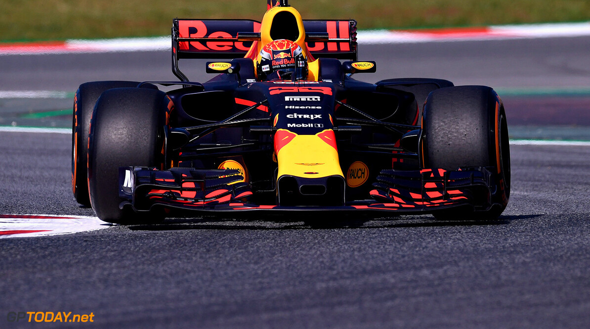 MONTMELO, SPAIN - MAY 12:  Max Verstappen of the Netherlands driving the (33) Red Bull Racing Red Bull-TAG Heuer RB13 TAG Heuer on track during practice for the Spanish Formula One Grand Prix at Circuit de Catalunya on May 12, 2017 in Montmelo, Spain.  (Photo by Alex Caparros/Getty Images) // Getty Images / Red Bull Content Pool  // P-20170512-00604 // Usage for editorial use only // Please go to www.redbullcontentpool.com for further information. //  Spanish F1 Grand Prix - Practice Alex Caparros  Spain  P-20170512-00604