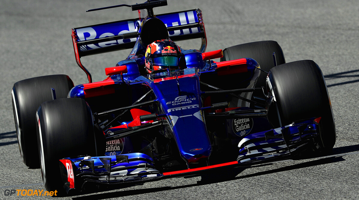 MONTMELO, SPAIN - MAY 12: Daniil Kvyat of Russia driving the (26) Scuderia Toro Rosso STR12 on track during practice for the Spanish Formula One Grand Prix at Circuit de Catalunya on May 12, 2017 in Montmelo, Spain.  (Photo by Mark Thompson/Getty Images) // Getty Images / Red Bull Content Pool  // P-20170512-01911 // Usage for editorial use only // Please go to www.redbullcontentpool.com for further information. //  Spanish F1 Grand Prix - Practice Mark Thompson  Spain  P-20170512-01911