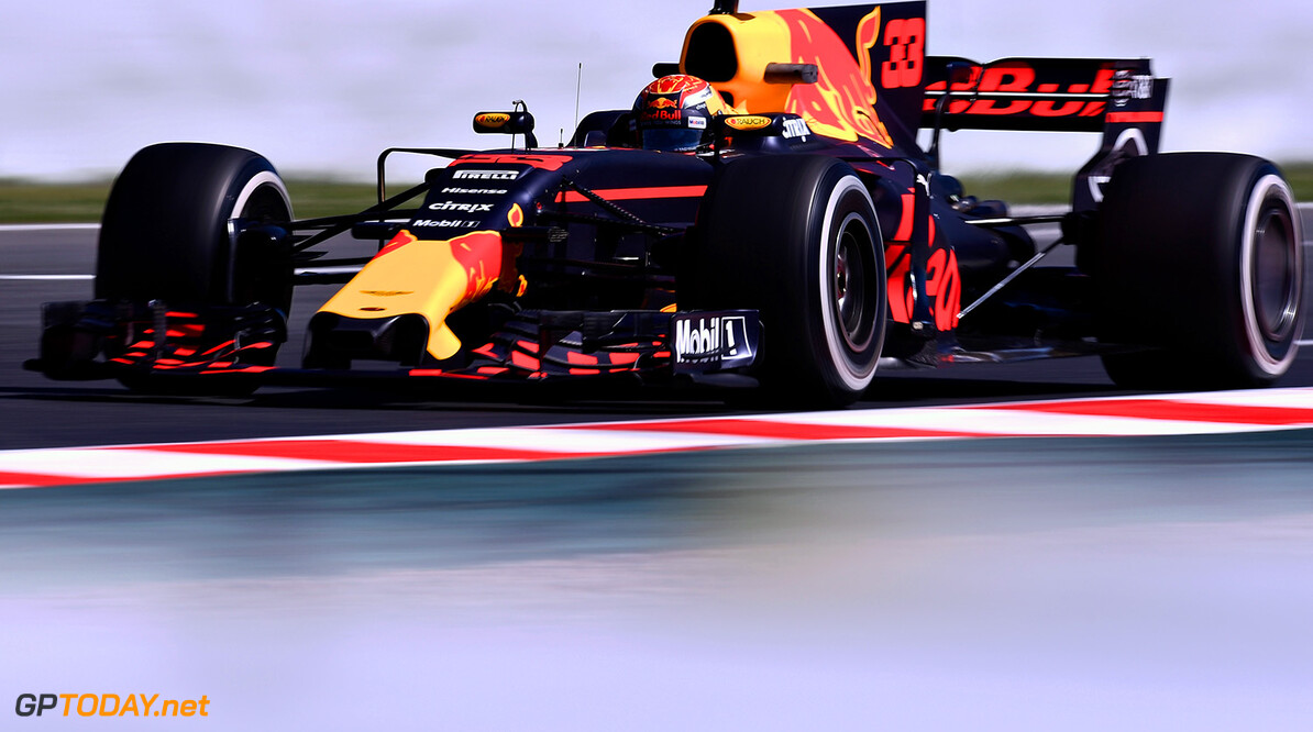 MONTMELO, SPAIN - MAY 12: Max Verstappen of the Netherlands driving the (33) Red Bull Racing Red Bull-TAG Heuer RB13 TAG Heuer on track during practice for the Spanish Formula One Grand Prix at Circuit de Catalunya on May 12, 2017 in Montmelo, Spain.  (Photo by Alex Caparros/Getty Images) // Getty Images / Red Bull Content Pool  // P-20170512-01060 // Usage for editorial use only // Please go to www.redbullcontentpool.com for further information. //  Spanish F1 Grand Prix - Practice Alex Caparros  Spain  P-20170512-01060
