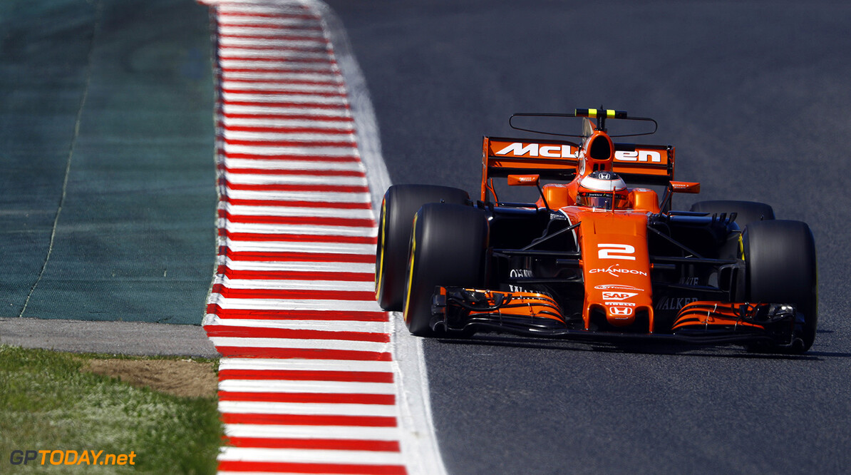 Circuit de Catalunya, Barcelona, Spain. Saturday 13 May 2017. Stoffel Vandoorne, McLaren MCL32 Honda. Photo: Steven Tee/McLaren ref: Digital Image _O3I4808  Steven Tee    f1 formula 1 formula one gp grand prix Action