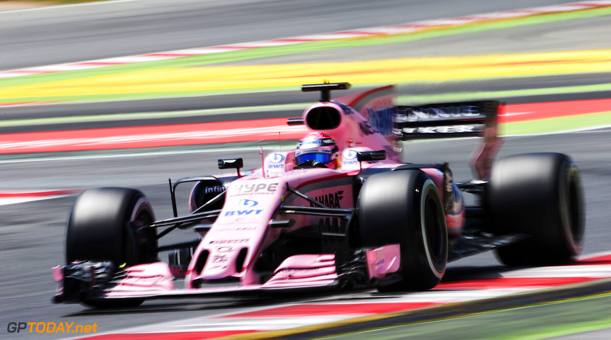 Formula One World Championship Sergio Perez (MEX) Sahara Force India F1 VJM10. Spanish Grand Prix, Sunday 14th May 2017. Barcelona, Spain. Motor Racing - Formula One World Championship - Spanish Grand Prix - Race Day - Barcelona, Spain James Moy Photography Barcelona Spain  Formula One Formula 1 F1 GP Grand Prix Spanish Spain Barcelona Catalunya Circuit de Catalunya Montmelo JM706 Sergio P?rez Sergio P?rez Mendoza Checo Perez Checo P?rez Action Track GP1705d GP1705d_M