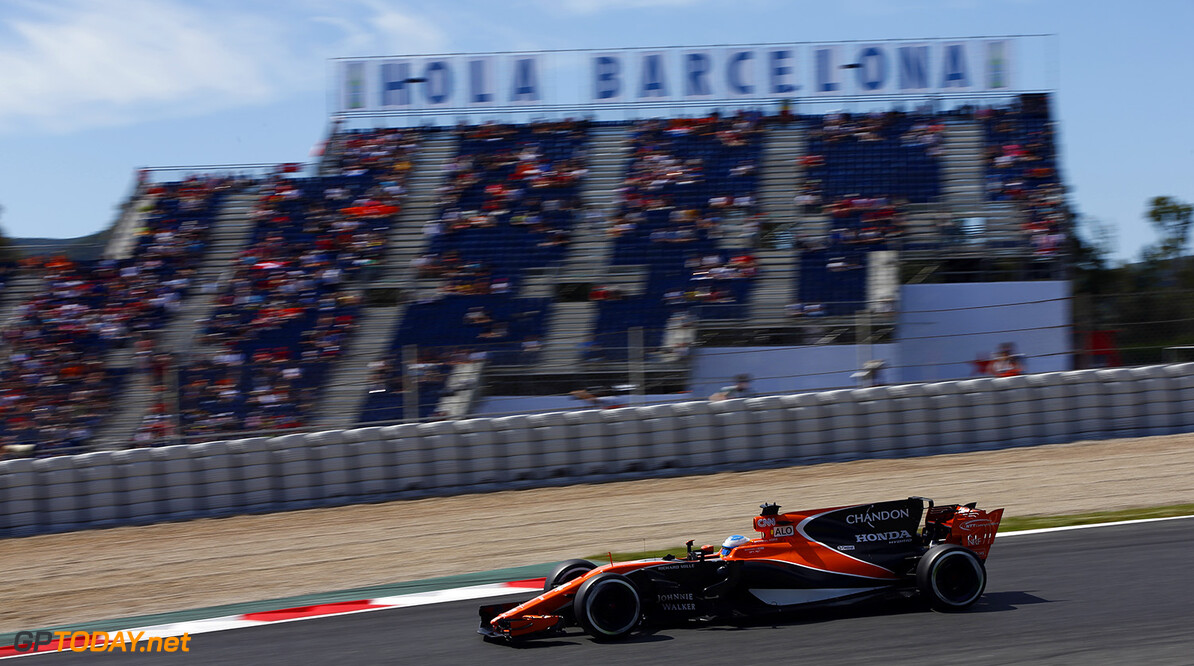 Circuit de Catalunya, Barcelona, Spain. Saturday 13 May 2017. Fernando Alonso, McLaren MCL32 Honda. Photo: Andrew Hone/McLaren ref: Digital Image _ONZ5060      f1 formula 1 formula one gp grand prix Action