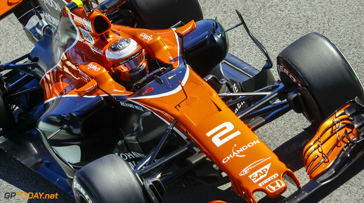 Circuit de Catalunya, Barcelona, Spain. Friday 12 May 2017. Photo: Steven Tee/McLaren ref: Digital Image _R3I0661  Steven Tee    f1 formula 1 formula one gp grand prix