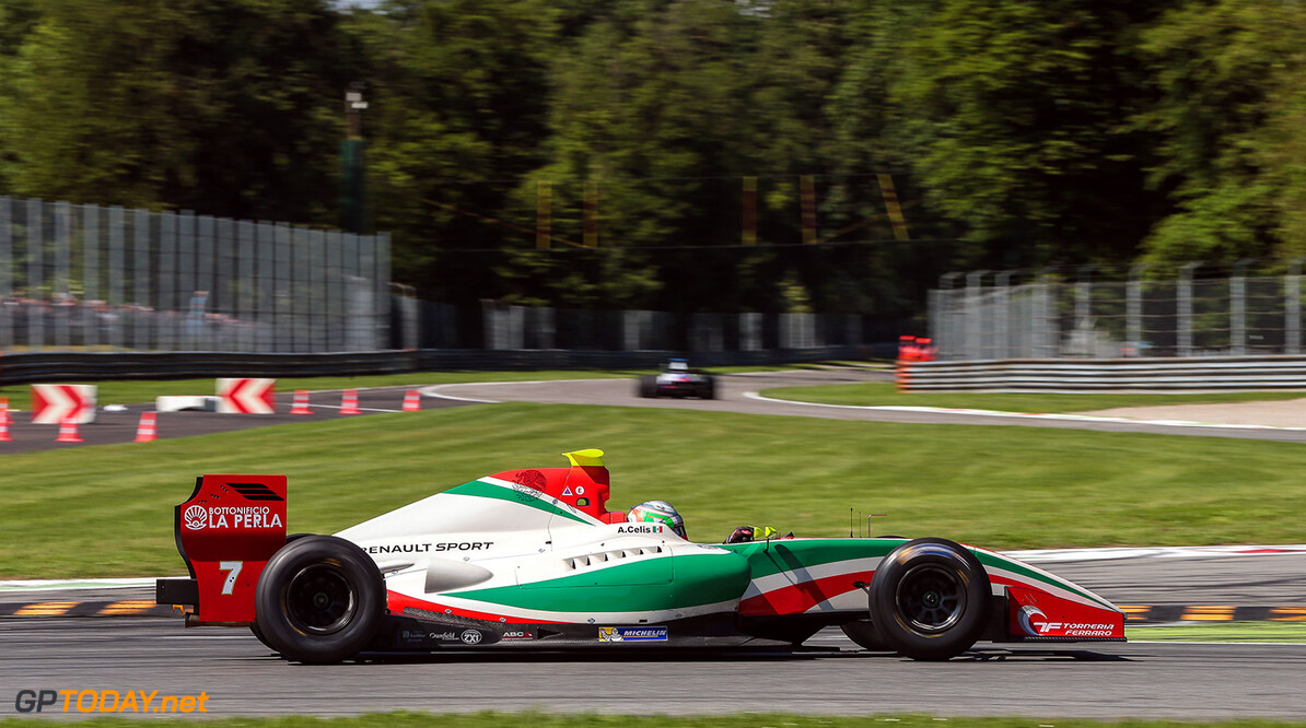 MONZA-RACING-FORMULA V8 MONZA (ITA) MAY 12-14 2017 -  Third round of the World Series Formula V8 3.5 at Autodromo di Monza. Alfonso Celis #7 Fortec Motorsports. Action. (C) 2017 Diederik van der Laan  / Dutch Photo Agency  Diederik van der Laan Monza Italy  Auto Autodromo Autosport Car Eurocup Formula Italy Michelin Monza Motorsports Race Racing Renault Track World Series