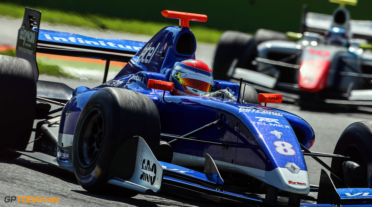 MONZA-RACING-FORMULA V8 MONZA (ITA) MAY 12-14 2017 -  Third round of the World Series Formula V8 3.5 at Autodromo di Monza. Diego Menchaca #8 Fortec Motorsports. Action. (C) 2017 Diederik van der Laan  / Dutch Photo Agency  Diederik van der Laan Monza Italy  Auto Autodromo Autosport Car Eurocup Formula Italy Michelin Monza Motorsports Race Racing Renault Track World Series
