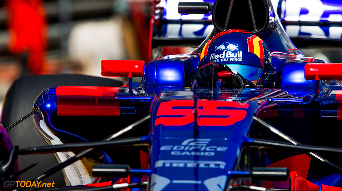MONTE-CARLO, MONACO - MAY 25:  25:  25:  25:  Carlos Sainz of Scuderia Toro Rosso and Spain during practice for the Monaco Formula One Grand Prix at Circuit de Monaco on May 25, 2017 in Monte-Carlo, Monaco.  (Photo by Peter Fox/Getty Images) // Getty Images / Red Bull Content Pool  // P-20170525-01062 // Usage for editorial use only // Please go to www.redbullcontentpool.com for further information. //  F1 Grand Prix of Monaco - Practice Peter Fox Monte-Carlo (City) Monaco  P-20170525-01062