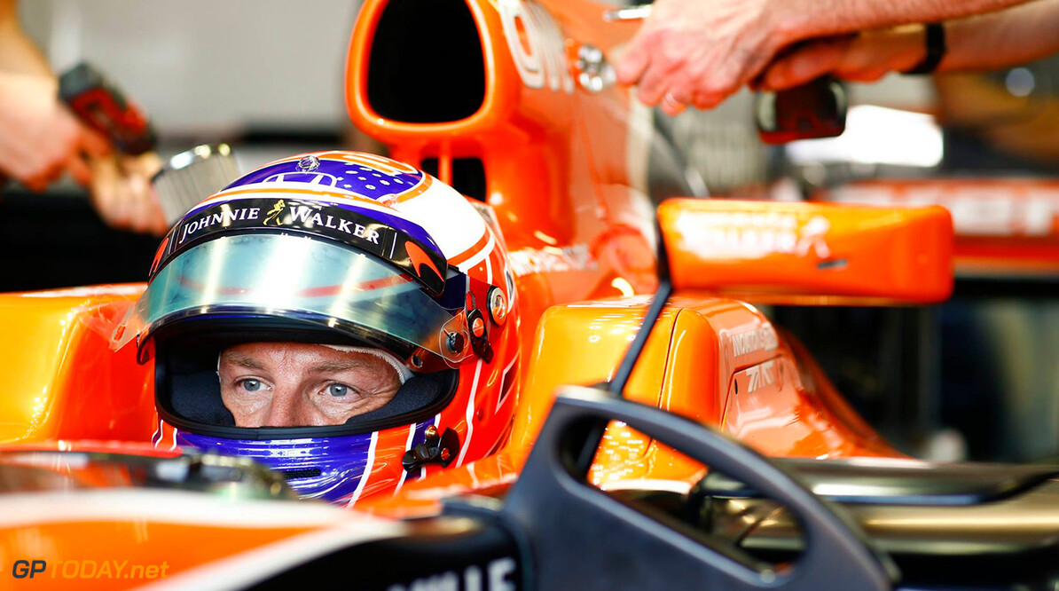 Button hit with 15-place grid penalty