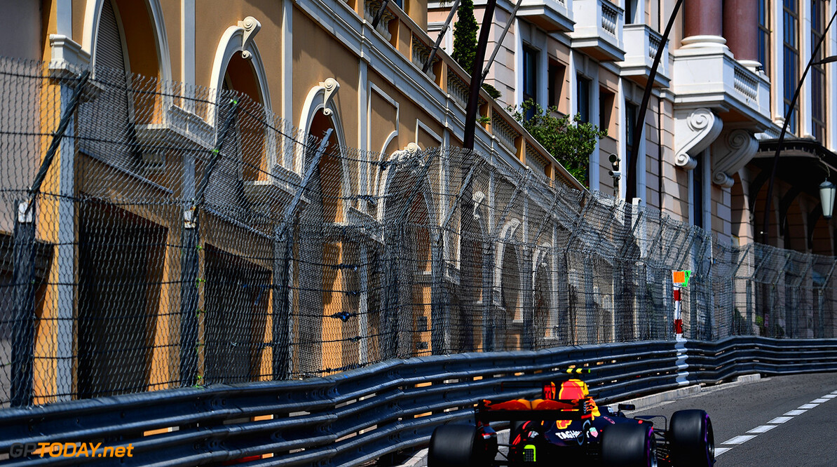 MONTE-CARLO, MONACO - MAY 25: Max Verstappen of the Netherlands driving the (33) Red Bull Racing Red Bull-TAG Heuer RB13 TAG Heuer on track during practice for the Monaco Formula One Grand Prix at Circuit de Monaco on May 25, 2017 in Monte-Carlo, Monaco.  (Photo by Shaun Botterill/Getty Images) // Getty Images / Red Bull Content Pool  // P-20170525-00677 // Usage for editorial use only // Please go to www.redbullcontentpool.com for further information. //  F1 Grand Prix of Monaco - Practice Shaun Botterill Monte-Carlo (City) Monaco  P-20170525-00677