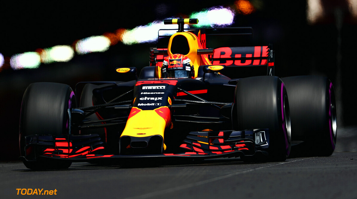 MONTE-CARLO, MONACO - MAY 25: Max Verstappen of the Netherlands driving the (33) Red Bull Racing Red Bull-TAG Heuer RB13 TAG Heuer on track during practice for the Monaco Formula One Grand Prix at Circuit de Monaco on May 25, 2017 in Monte-Carlo, Monaco.  (Photo by Dan Istitene/Getty Images) // Getty Images / Red Bull Content Pool  // P-20170525-00671 // Usage for editorial use only // Please go to www.redbullcontentpool.com for further information. //  F1 Grand Prix of Monaco - Practice Dan Istitene Monte-Carlo (City) Monaco  P-20170525-00671