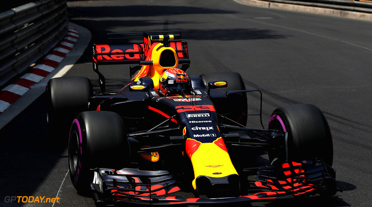 MONTE-CARLO, MONACO - MAY 25: Max Verstappen of the Netherlands driving the (33) Red Bull Racing Red Bull-TAG Heuer RB13 TAG Heuer on track during practice for the Monaco Formula One Grand Prix at Circuit de Monaco on May 25, 2017 in Monte-Carlo, Monaco.  (Photo by Mark Thompson/Getty Images) // Getty Images / Red Bull Content Pool  // P-20170525-00620 // Usage for editorial use only // Please go to www.redbullcontentpool.com for further information. //  F1 Grand Prix of Monaco - Practice Mark Thompson Monte-Carlo (City) Monaco  P-20170525-00620