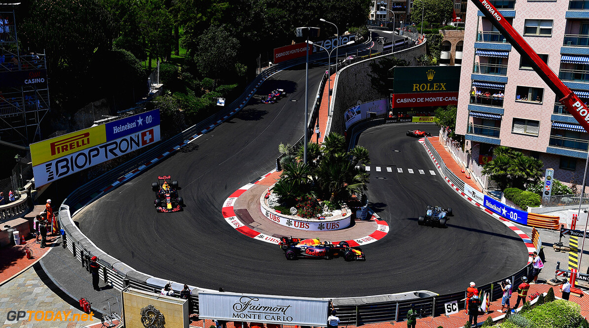 MONTE-CARLO, MONACO - MAY 28:  Max Verstappen of the Netherlands driving the (33) Red Bull Racing Red Bull-TAG Heuer RB13 TAG Heuer leads Daniel Ricciardo of Australia driving the (3) Red Bull Racing Red Bull-TAG Heuer RB13 TAG Heuer on track during the Monaco Formula One Grand Prix at Circuit de Monaco on May 28, 2017 in Monte-Carlo, Monaco.  (Photo by Shaun Botterill/Getty Images) // Getty Images / Red Bull Content Pool  // P-20170528-00269 // Usage for editorial use only // Please go to www.redbullcontentpool.com for further information. //  F1 Grand Prix of Monaco Shaun Botterill Monte-Carlo (City) Monaco  P-20170528-00269