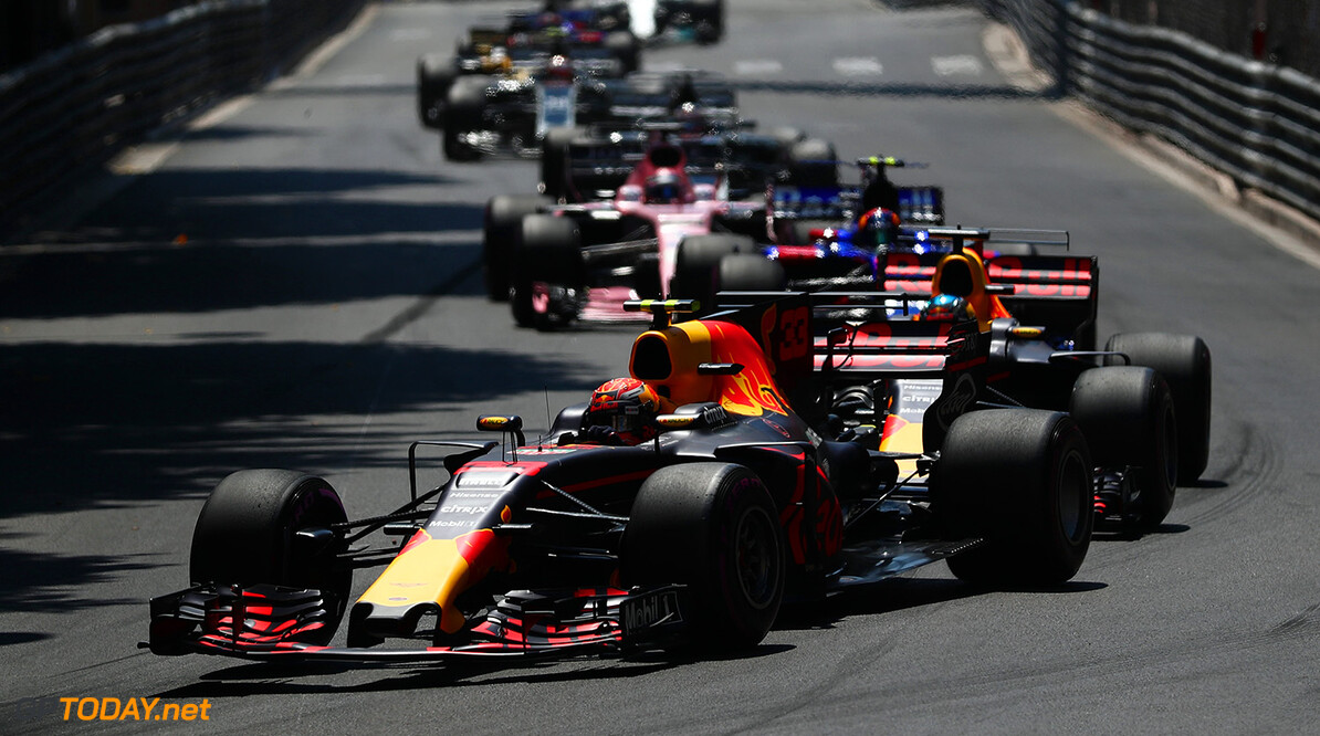 MONTE-CARLO, MONACO - MAY 28:  Max Verstappen of the Netherlands driving the (33) Red Bull Racing Red Bull-TAG Heuer RB13 TAG Heuer in action during the Monaco Formula One Grand Prix at Circuit de Monaco on May 28, 2017 in Monte-Carlo, Monaco.  (Photo by Dan Istitene/Getty Images) // Getty Images / Red Bull Content Pool  // P-20170528-00248 // Usage for editorial use only // Please go to www.redbullcontentpool.com for further information. //  F1 Grand Prix of Monaco Dan Istitene Monte-Carlo (City) Monaco  P-20170528-00248
